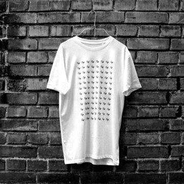 Rough Logo Shirt White